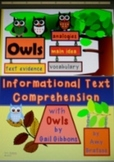 CCSS Aligned Informational Text Comprehension with Owls by