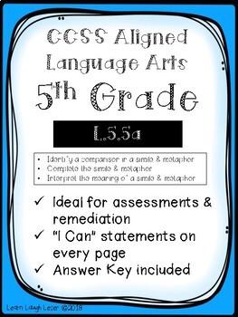 CCSS L.5.5a Assessment Bundle