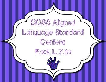 CCSS Aligned Language Standard Centers