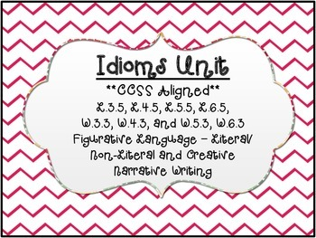 """Idioms"" -  Figurative Language Literal/Non-Literal Meaning"