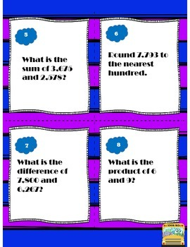 CCSS Aligned Math Task Cards 3-5