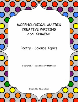 CCSS Aligned Morphological Matrix Creative Writing Activities - Poetry Unit