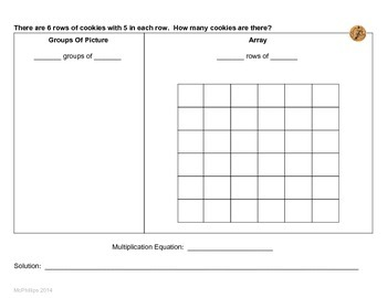 CCSS Aligned Multiplication Word Problem Set - Grade 3 - 3.OA.1, 3.OA.3, 3.OA.5