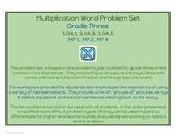 CCSS Aligned Multiplication Word Problem Set - Grade 3 - 3