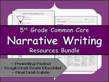 CCSS Aligned Narrative Writing Bundle