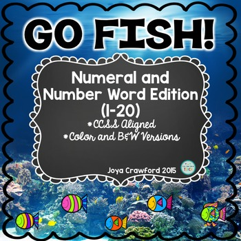 Numbers 1-20 Go Fish Game