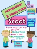 CCSS Aligned Numeration and Place Value Practice- 2 Scoot Games