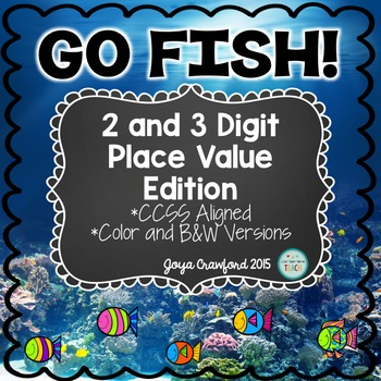 Place Value Games: 2 and 3 Digit Go Fish Games Bundle