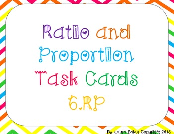 CCSS Aligned Ratio and Proportion Task Cards