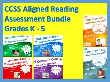 CCSS Aligned Reading Assessment Bank Bundle Grades K-5