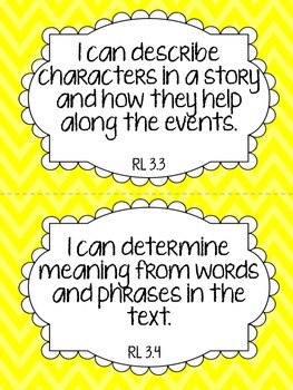 CCSS Aligned Reading Goals Clip Chart {Grade 3}