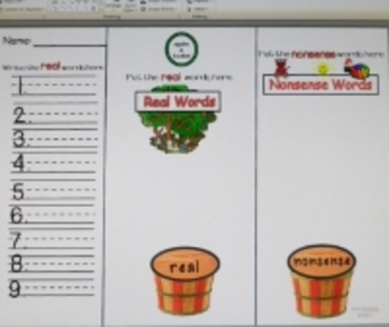 CCSS Aligned Real and Nonsense Word Work Literacy Center Activities