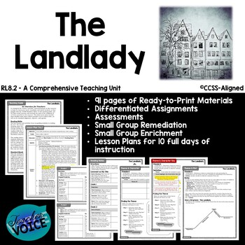 """CCSS-Aligned Resources for """"The Landlady,"""" by Roald Dahl"""