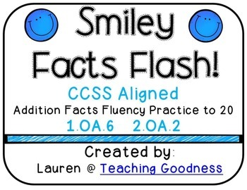 CCSS Aligned Smiley Addition Facts to 20