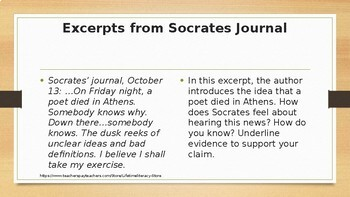 CCSS Aligned Socrates Close Reading Activity from The Dialogues to Plato