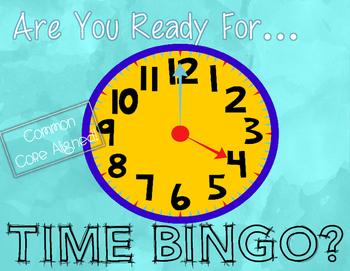 CCSS-Aligned Time Bingo Math Center