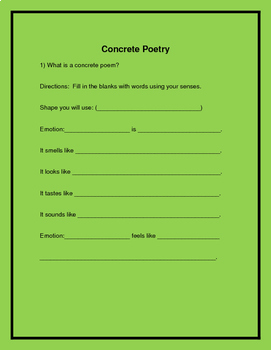 CCSS Aligned Types of Poetry Unit for Middle School