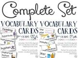 CCSS-Aligned Vocabulary Cards Bundle {3rd Grade Math & ELA}