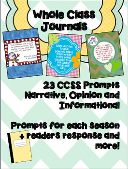 CCSS Aligned Whole Class Journals: Over 20 Covers!