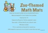 CCSS Aligned Zoo-Themed Math Mats