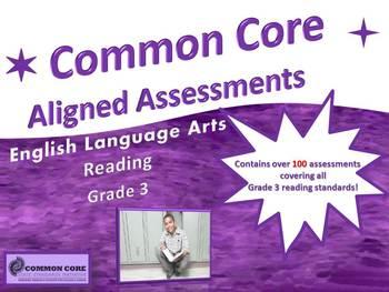 CCSS Assessment Bundle Reading Grades 3-5, Math Grade 3