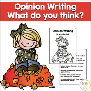 Opinion Writing Prompt Autumn Fall