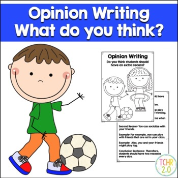Opinion Writing Prompt Extra Recess