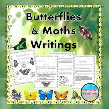 "CCSS ""BUTTERFLIES AND MOTHS"" TEXT-BASED WRITING ASSIGNMENT"