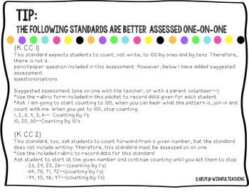 Baseline Math Assessment: 1st Grade