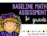 Baseline Math Assessment: 1st Grade
