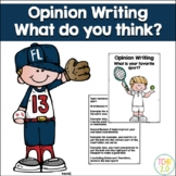 Opinion Writing Favorite Sport