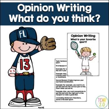 Opinion Writing Favorite Sport