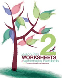 CCSS Blank Lesson Plan Tracker and Worksheets for Grade 2