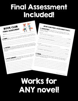 CCSS Book Clubs! Student & Teacher Pages! Hipster Animals Theme! {4-6 CCSS}