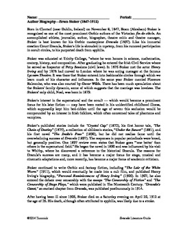 CCSS Bram Stoker Biography