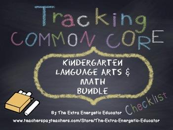 CCSS Bundle: Tracking Common Core K Language Arts & Math Checklists
