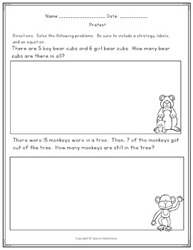 CCSS FIRST GRADE PROBLEM SOLVING 4 WEEKS OF COMPLETE ZOO THEME LESSONS
