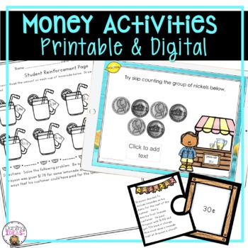 CCSS COUNTING AND SOLVING WORD PROBLEMS WITH MONEY 2 WEEK COMPLETE UNIT