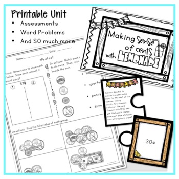 COUNTING MONEY LESSON PLANS, WORKSHEETS, GAMES, AND MORE WITH PROBLEM SOLVING