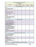 CCSS ELA California 1st Grade Checklist