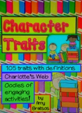 Character Trait Literacy Activities including Charlotte's Web Task Cards