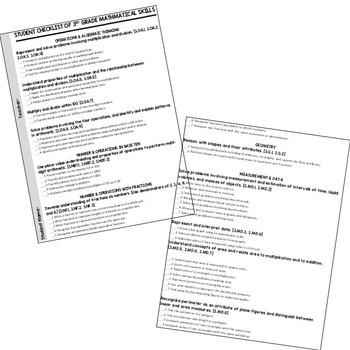 CCSS Checklist 3rd Grade Math