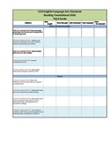 CCSS Checklists 3rd Grade ELA Fully Editable Excel Document