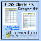 CCSS Checklists Kindergarten ELA Fully Editable Excel Document