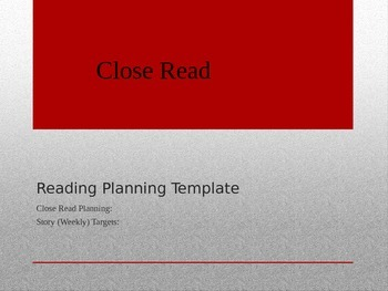 CCSS Close Read Planning Template by swcoachanderson | TpT