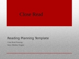 CCSS Close Read Planning Template
