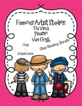 CCSS Close Reading Bundle: Famous Artists - Da Vinci, Pica