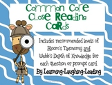 CCSS Close Reading Cards with Bloom's and DOK