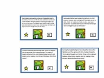 Basketball Problem Solving Task Cards