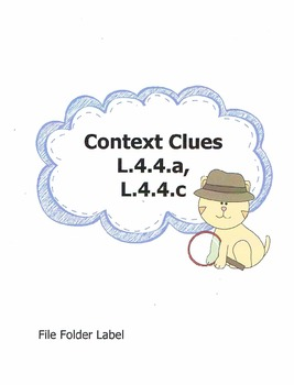 CCSS: Context Clues Quick Assessment